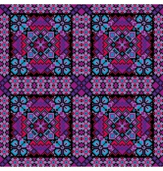 Ethnic mosaic ornamental background vector image
