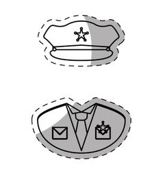 Figure police uniform icon image vector