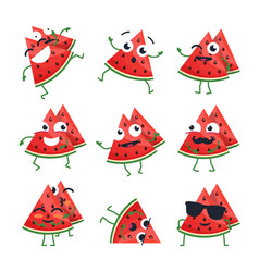 Funny watermelon - isolated cartoon vector