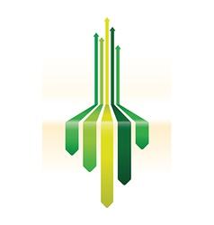 Green arrow background vector