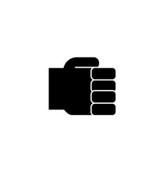 hand fist simple holding hand icon vector image vector image