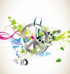 Hippie symbol vector