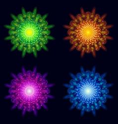 holiday fireworks set vector image