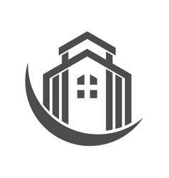 Luxury residence crescent black logo vector