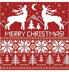 Northern ornament christmas card vector