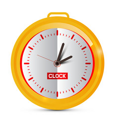 Paper golden clock vector