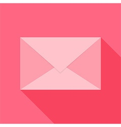 Pink envelope vector image vector image