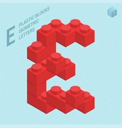 Plastic blocs letter e vector