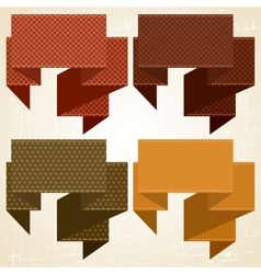 Retro speech bubbles set vector image