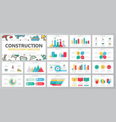 set of construction and repair elements for vector image