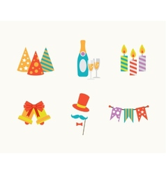 Set of holiday icons vector