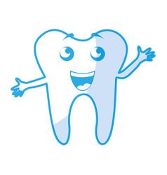 Shadow tooth cartoon vector