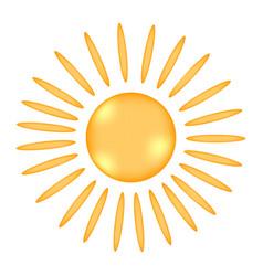 sun sign icon vector image