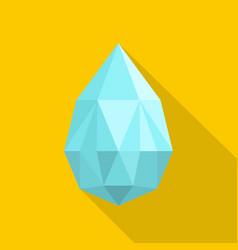 teardrop shaped diamond icon flat style vector image