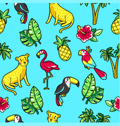 Tropic seamless pattern vector