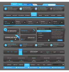 Web site design template navigation elements vector image