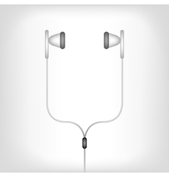 white earphones vector image