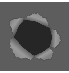 with a black hole vector image vector image
