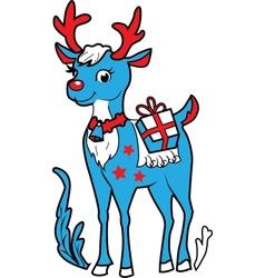 Xmas reindeer rudolf vector