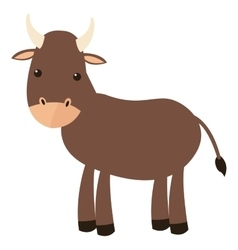 bull cartoon icon vector image