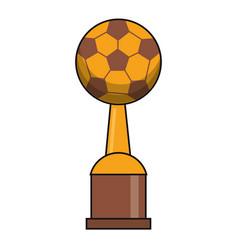 soccer trophy sport golden image vector image