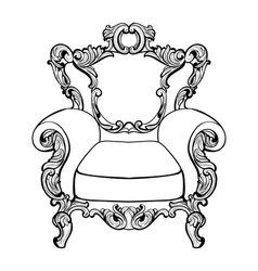 Classic imperial baroque armchair with luxurious vector