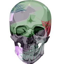 Human skull bones skeleton dead vector
