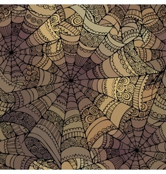 decorative spider web pattern vector image