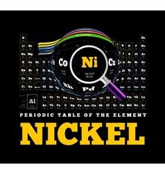 Periodic table of the element nickel ni vector