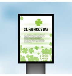 Saint patrick day light board background vector