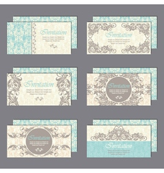 Cards set blue vector
