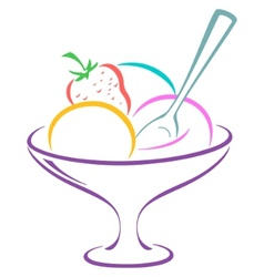 Icecream in a vase vector