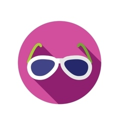 Sunglasses flat icon with long shadow vector