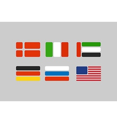 Set of flags stylized flags from geometry russia vector