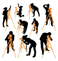 Surveyor silhouettes vector