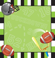 Football party invitation card vector