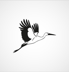 Stork isolated vector