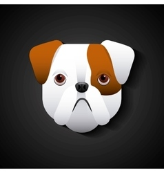 English bulldog design vector