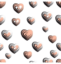 Wave textured hearts vector