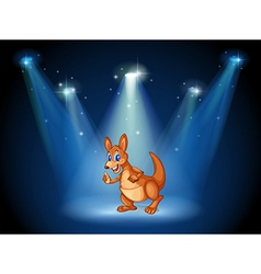 A kangaroo at the center of the stage with vector image vector image