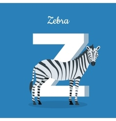 Animal alphabet concept in flat design vector