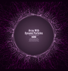 Array with dynamic particles round dots vector