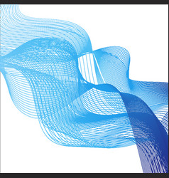 Background theme with blue waves on white vector