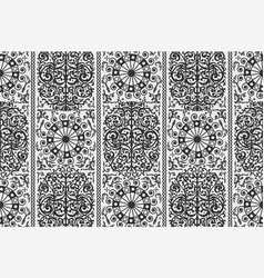 Black and white ancient vintage seamless vector