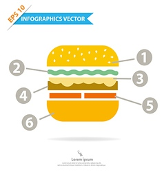 Burger Infographics vector image vector image