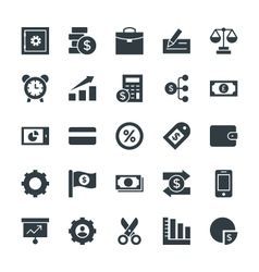Finance Cool Icons 4 vector image vector image
