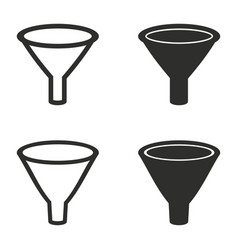 Funnel icons set vector