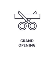 grand opening line icon outline sign linear vector image