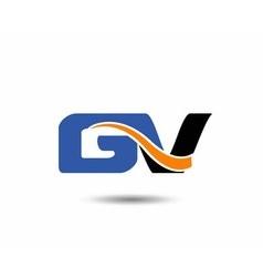 Gv company linked letter logo vector