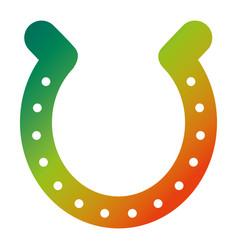 horseshoe luck good icon symbol vector image vector image